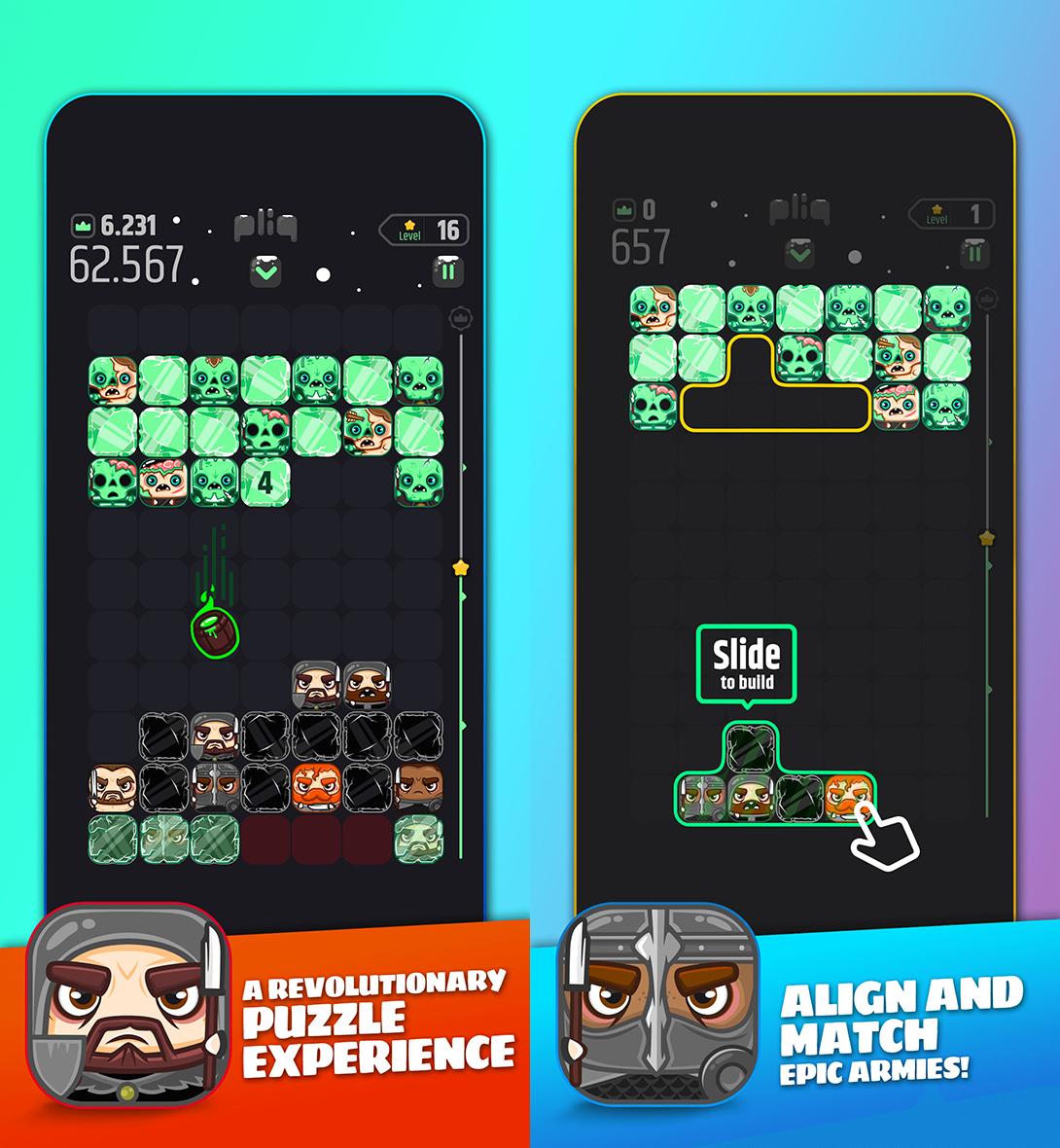 pliq: Epic Clash Arcade Puzzle